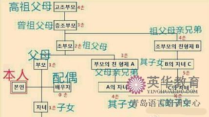 韩语词汇:韩国的亲戚关系用韩语怎么说